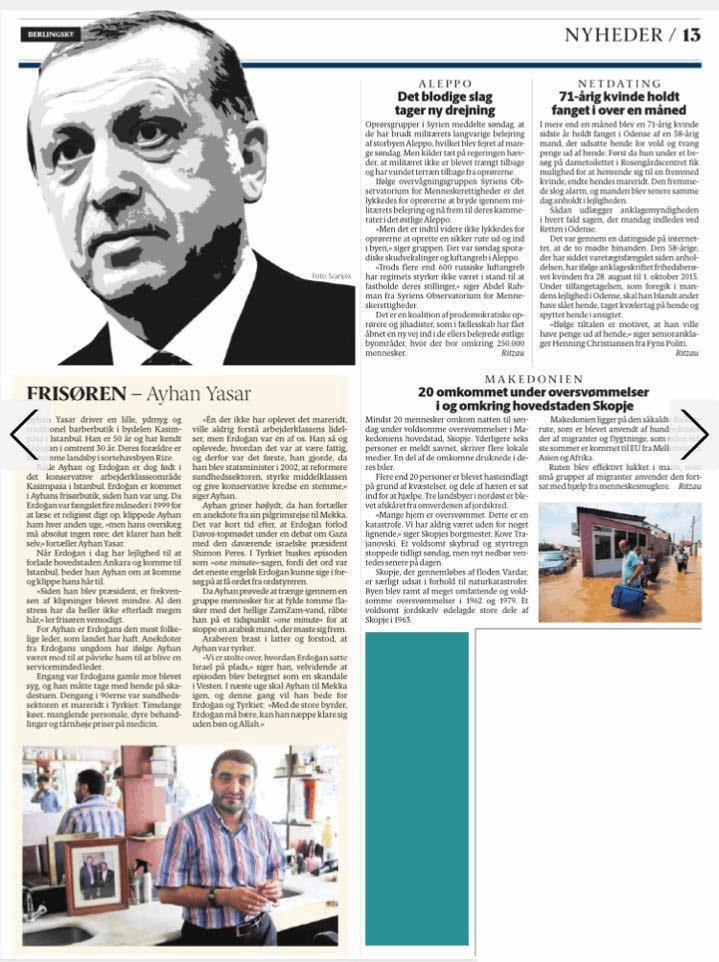 Egemen Bağış - Danimarka Gazetesi