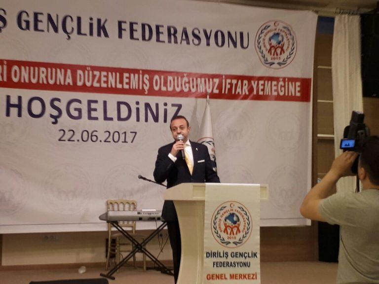 Egemen Bağış Diriliş Gençlik Federasyonu İftarında